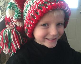 Child's floppy knit hat