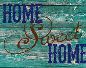 Rustic Home Sweet Home Canvas Print