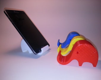 3D Printed Elephant Smartphone Holder iPhone Android