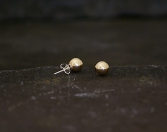 Gold Bauble Earrings 8mm