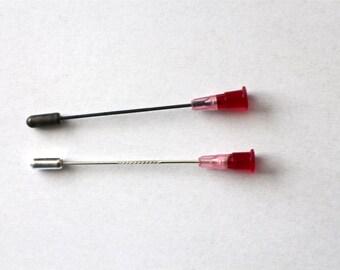 Pink Syringe Brooch