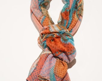 Women Scarves, Printed scarf, Colourful scarf, Pink Scarf, Blue scarf, Green scarf, Print scarf, Women scarf, Girl scarf, Fashion scarf
