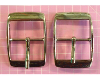 Buckles in Nickel  1 in / 25mm with centre bar set of 2