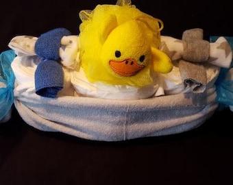 Baby Boy Peapod diaper basket
