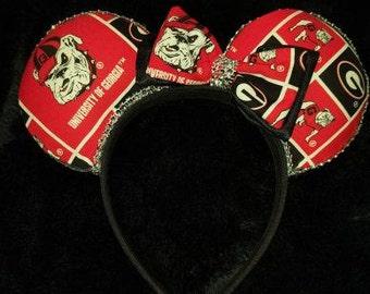 Georgia Bulldog Disney Inspired Ears