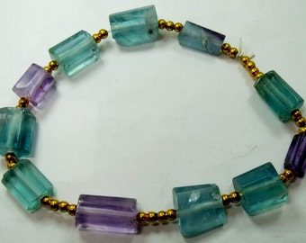1 Bracelet High Quality  Flourite Beads From Afghanistan 9 Inch Long