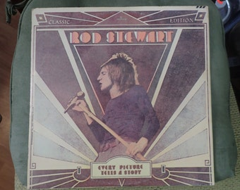 vintage vinyl rod stewart, every picture tells a story