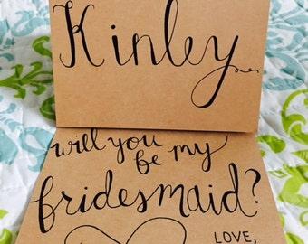 Custom Bridesmaid Invitations