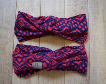 Red Navy Squares Ethnic