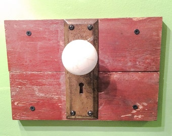 Rustic Doorknob Hanger
