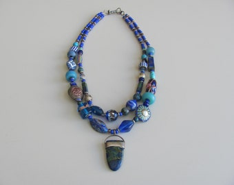Necklace, Many Blues