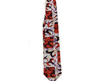 Mud Print Batik Tie