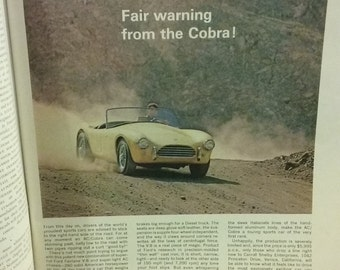 Color Ad For The First Shelby AC Cobra Intact In Mint October  1962 Issue Of Playboy