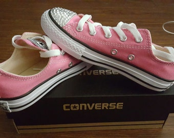 Child Pink Bling Converse