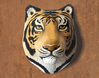 Wall hanging. Paper mache tiger