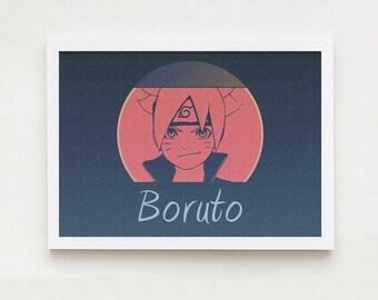 Boruto art wall interior decor home design