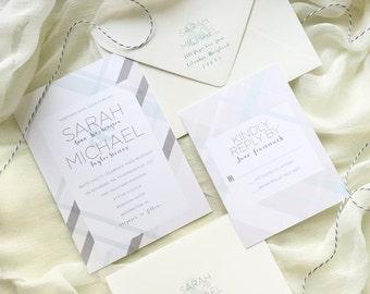 Elegant Plaid Wedding Invitation Sample