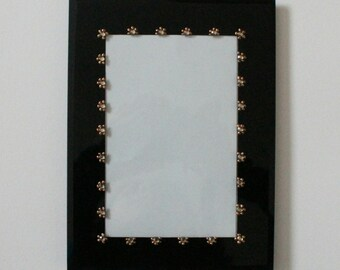 Hand painted with gems photo frame 6 x 4 inches