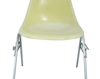 Vintage Herman Miller Eames Side Chair, Yellow