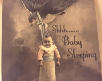 Baby tin sign...shah baby sleeping