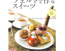 Japanese felt sweets pattern book, cake sewing pattern, felt cookie pattern, felt donut pattern, felt chocolates, instant download