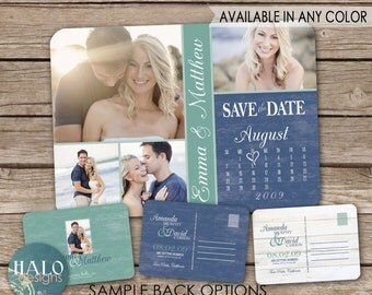 Beach Wedding Save the Date Postcard - printable card