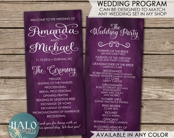 Slim Wedding Program