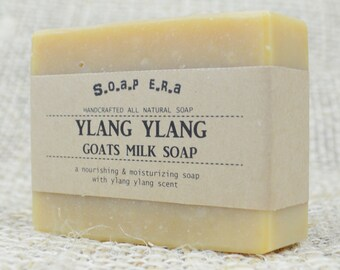 Ylang Ylang Goats Milk Soap- made from fresh Australian Goats Milk,Shea Butter and Cocoa Butter  - Soap Era all natural cold process soap