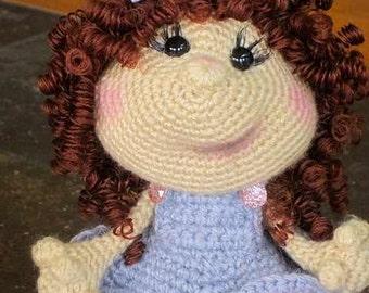 Toy Doll Crochet Amigurumi Stuffed Toy Doll