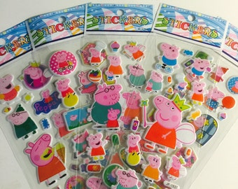 New Peppapig stickers 8 sheets Party favors