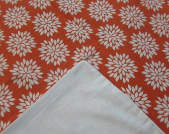 Orange flower blanket