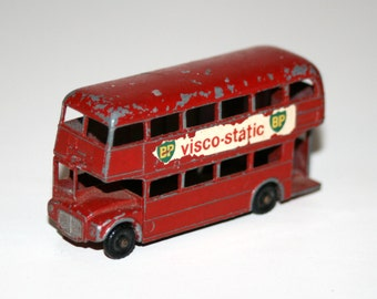 "Vintage 1960's MATCHBOX / LESNEY #5 Routemaster 'London Double Decker' 2 1/2"" Long Diecast Bus"