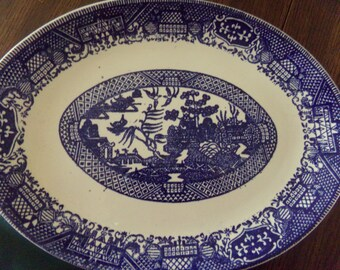 Blue Willow Platter 12in
