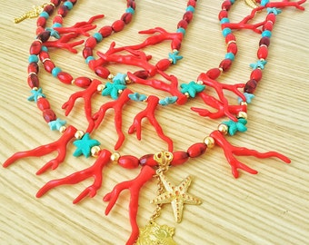 Coral necklace fashion handmade jewerly