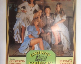 Country Comfort Adult Movie Poster, Signed by Georgina Spelvin