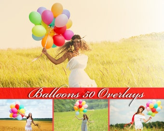 50 Balloons Overlays Photoshop Overlays Balloons Clip Art Balloon Overlay Colorful Balloon Clipart Balloons Photo Overlays Balloons PNG