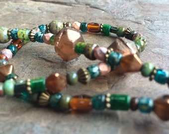 Green and amber necklace