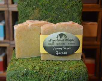 Sunny Herb Garden Soap - organic, handmade, all natural, cold process, vegan