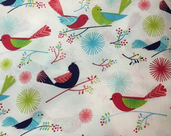 Pretty Birds Scrub Top