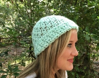 Addison Hat Open Weave Beanie/slouchie hat