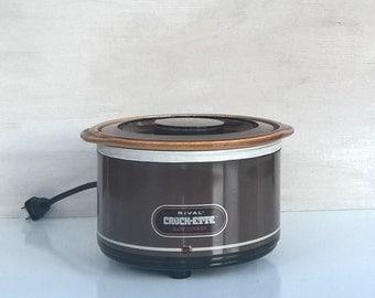 Rival Crock-ette 1-quart slow cooker in brown, Model 3200/1