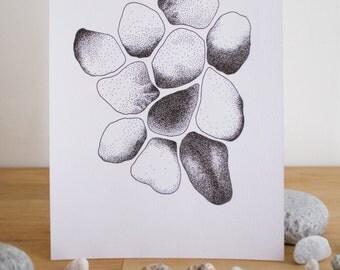 Black & white pebbles