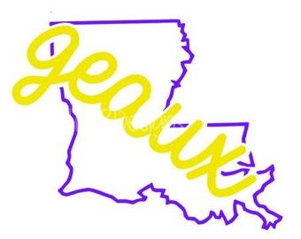 Louisiana Svg- Geaux Louisiana Svg- SVG- Svg Design File- SVG files- Louisiana Decal