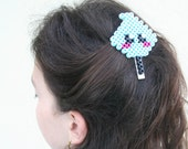 Perler beads hair clip / Cotton Candy Kawaii cute hair clip / girls hair accessory