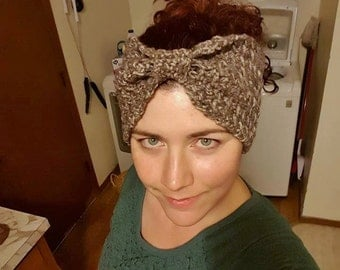 Bow Crochet Women's Headband Earwarmer