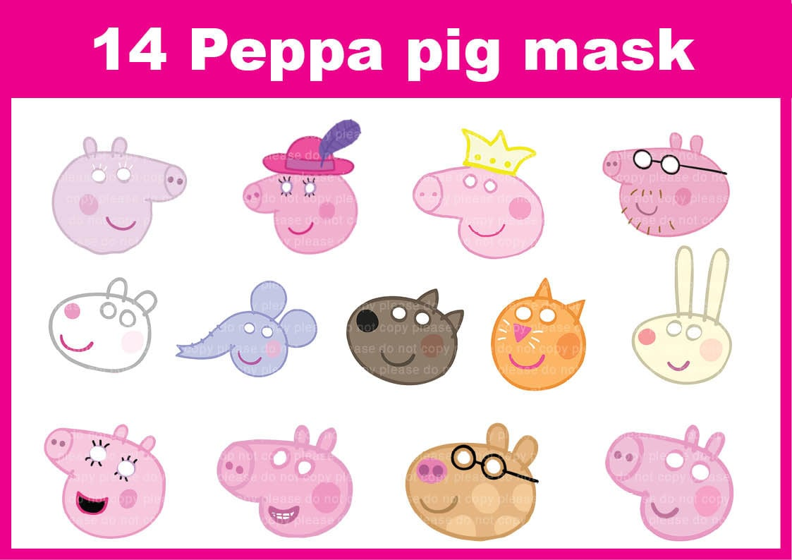Stupendous image regarding printable peppa pig