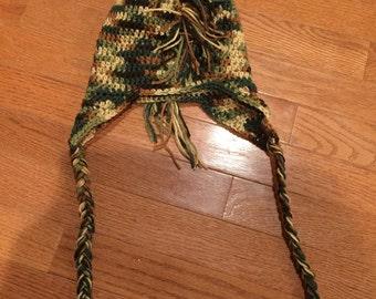 Mens/Teens Camoflauge Mohawk Hat