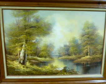 Landscape Oil Painting by K Edwin * MAKE OFFER *