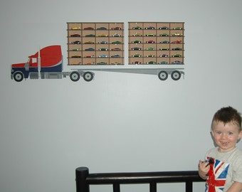 Truck'n Cars: Wood-painted wall decor for boys