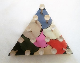 Handcrafted Custom Triangle Peg Game